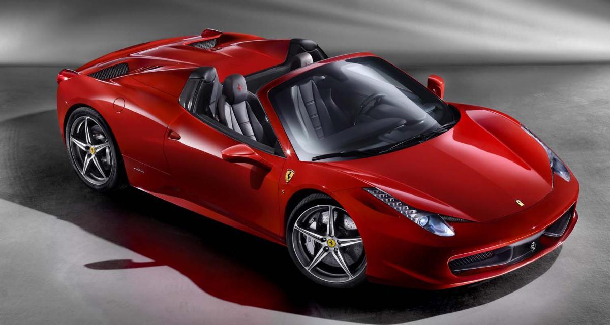 Ferrari 458 Spider, un Coupé-Cabriolet pour les durs