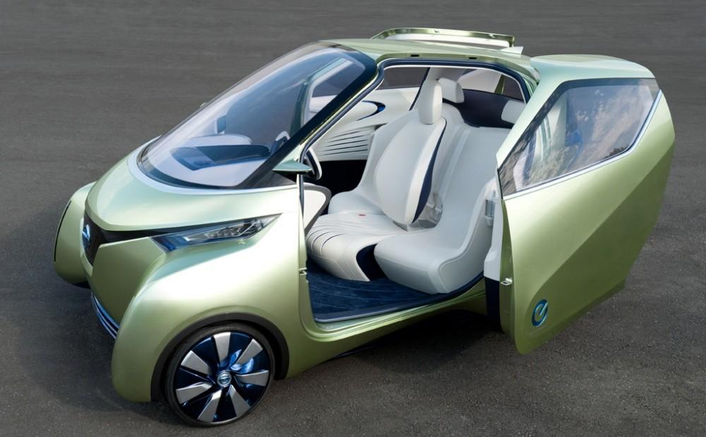 Pivo 3 : la micro citadine électrique de Nissan à 4 roues directrices
